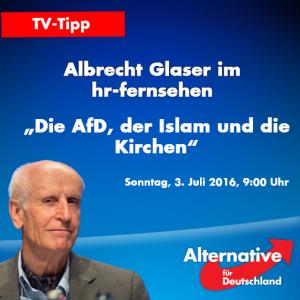 TV Glaser AfD Islam Kirchen HR